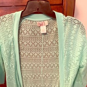 Half sleeve knit cardigan
